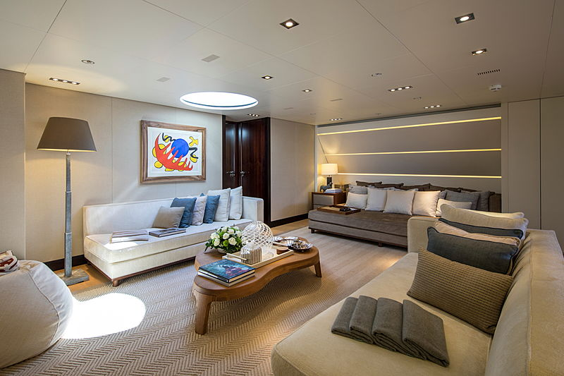 Auspicious yacht interior
