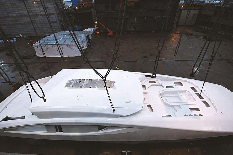 Black Shark yacht constuction at Nobiskrug