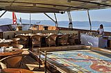 Christina O yacht aft deck