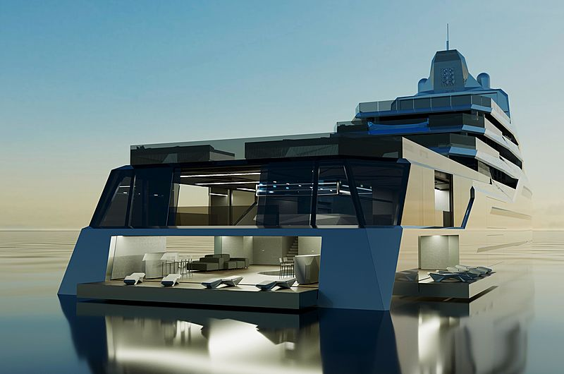 Project Equilibrium yacht rendering