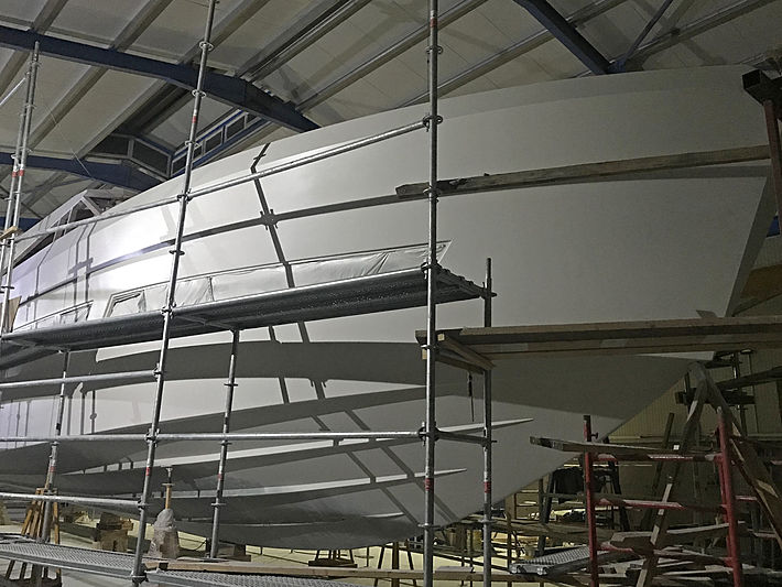 Mazu 82/01 yacht in build in Yalova
