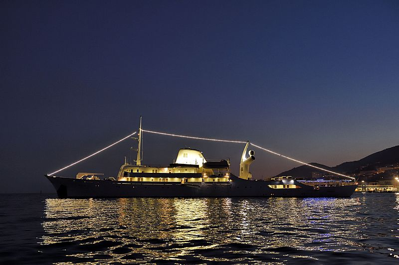 Christiana O yacht anchored