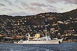 Christina O yacht anchored