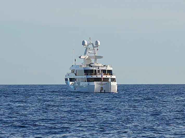 Le Pharaon yacht anchored off Cannes