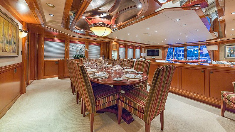 Hospitality yacht dining table