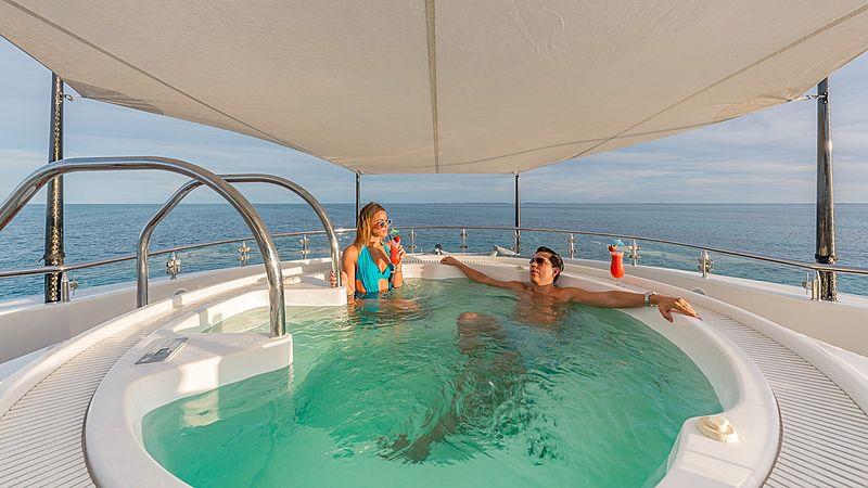Hospitality yacht jacuzzi