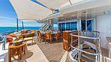 Hospitality yacht aft deck