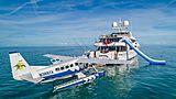 Hospitality yacht at anchor