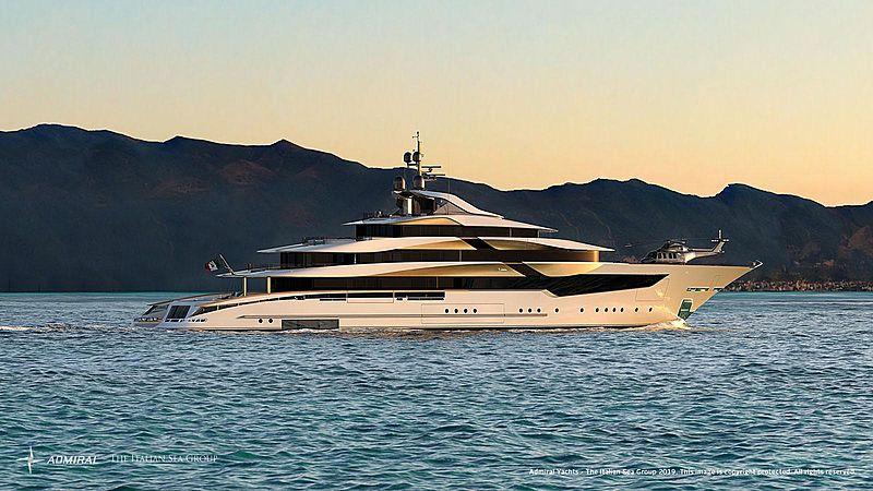 Galileo 80 yacht rendering
