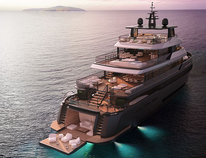 Benetti B.YOND 37m yacht exterior design