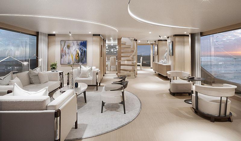 Benetti B.YOND 37m yacht interior design