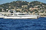 Rush yacht anchored off Cannes