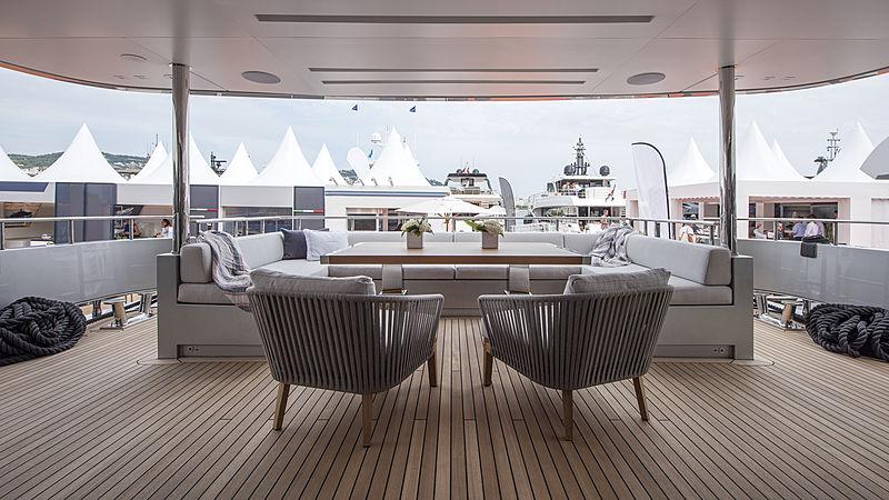 Stella M yacht aft deck