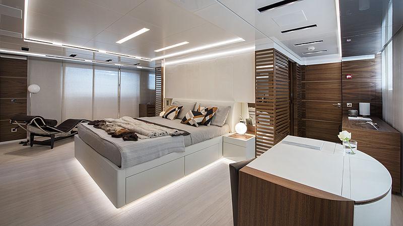 Stella M yacht stateroom