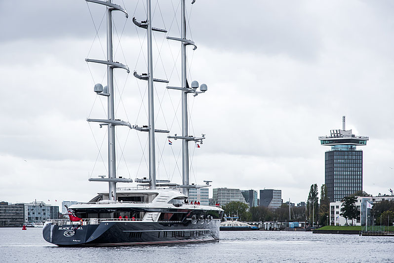 Black Pearl yacht in Amsterdam