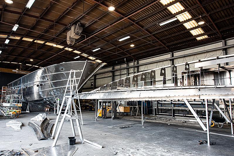 Van der Valk 26M yacht under construction