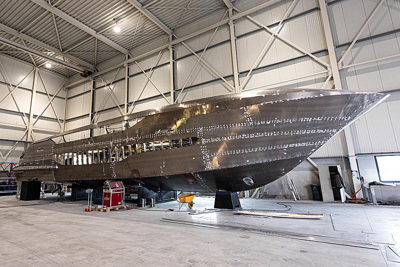 Van der Valk 24M Flybridge yacht under construction