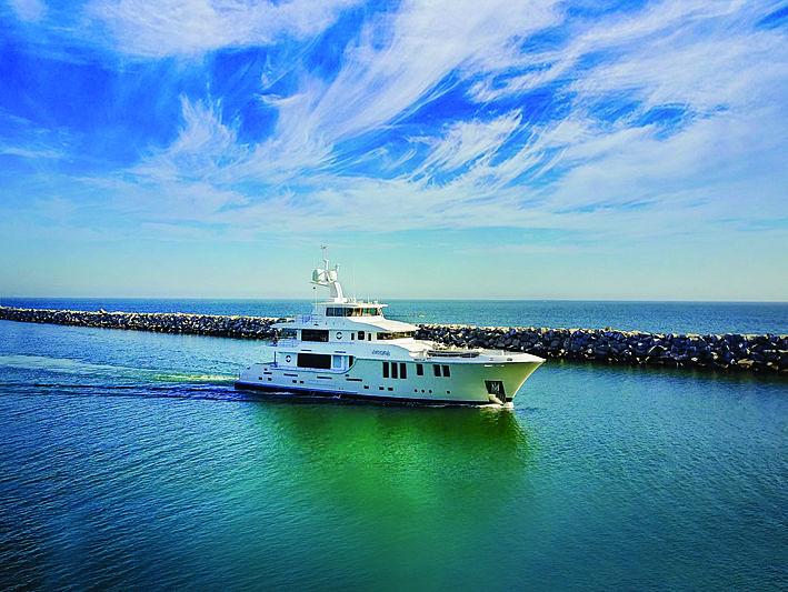 Aurora yacht cruising