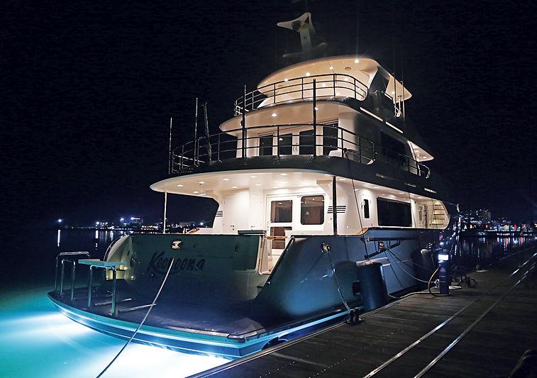 Koonoona yacht in marina