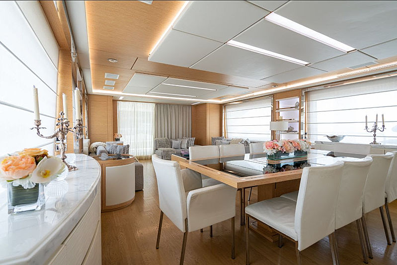 Princeville yacht dining table