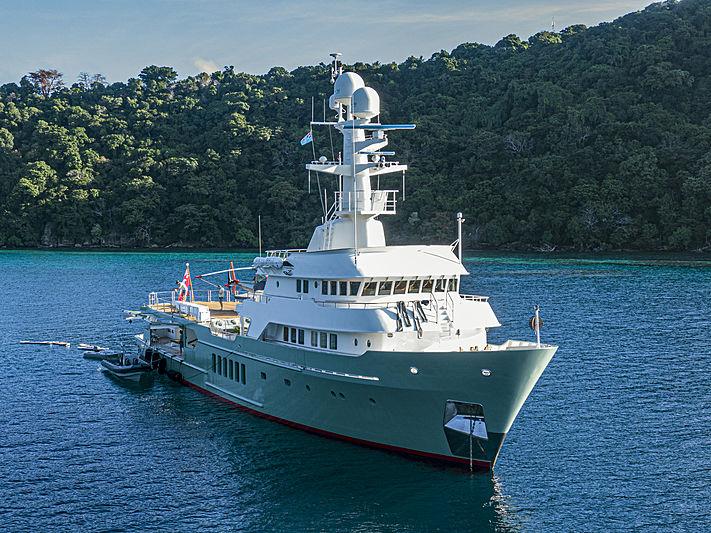 Karima yacht at anchor