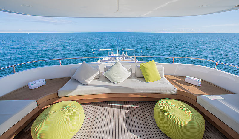Ruscello yacht aft deck