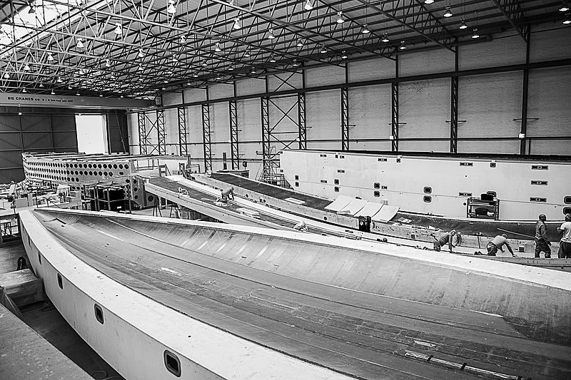 Southern Wind SW105/04 yacht under construction
