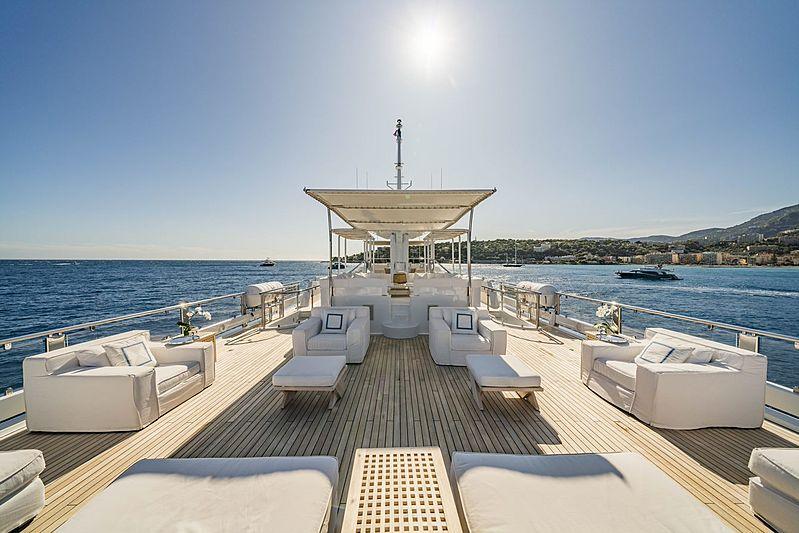 Oceana yacht exterior deck