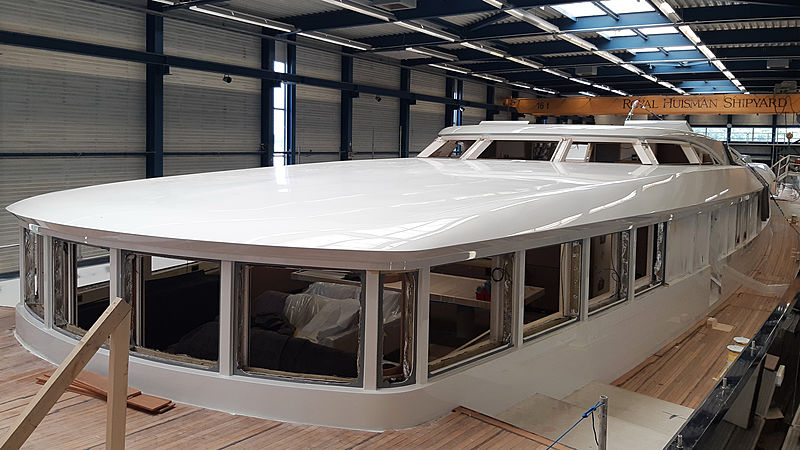 Royal Huisman Project 400 sailing yacht in build in Vollenhove