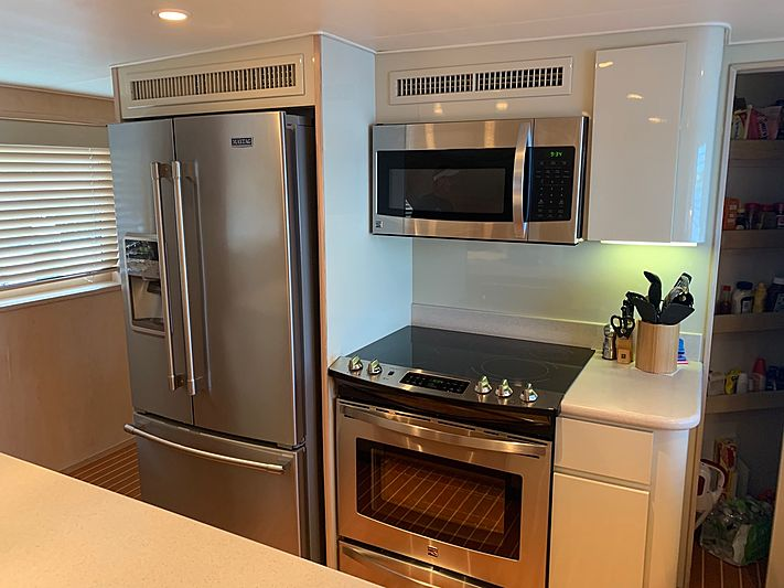 Lady Gray yacht galley