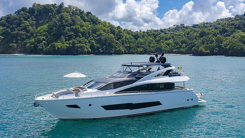 Pura Vida yacht aerial