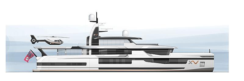Heesen 57m Xventure concept rendering