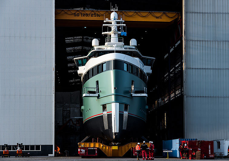 Damen 62m SeaXplorer launch