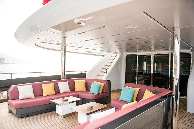 Virtus yacht main aft deck