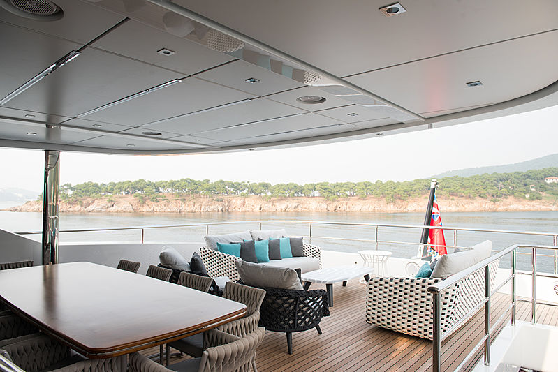 Virtus yacht upper aft deck