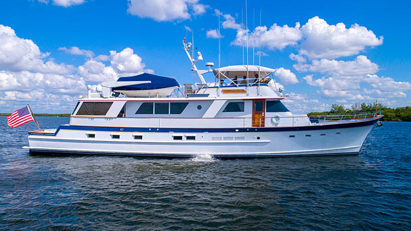 High Mileage yacht cruising