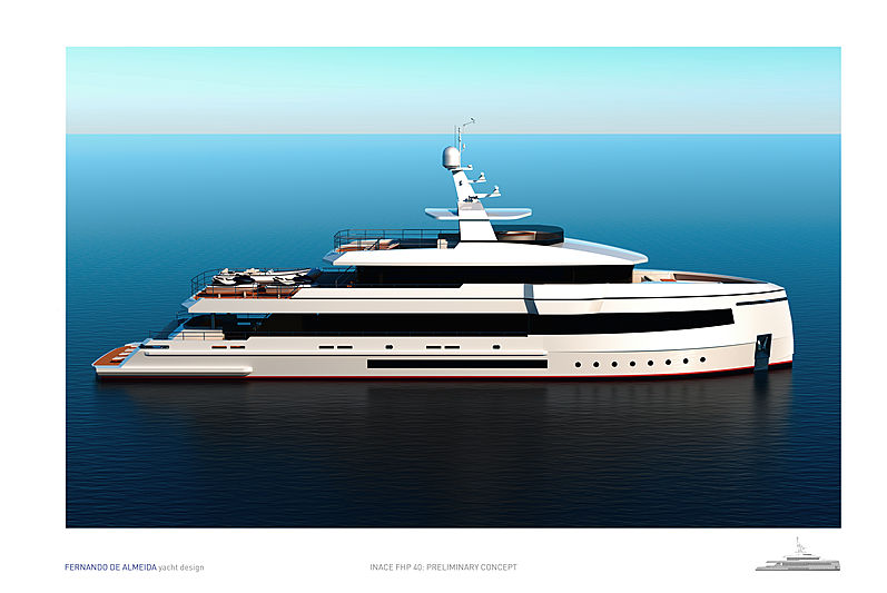 Inace FHP40 yacht concept exterior design