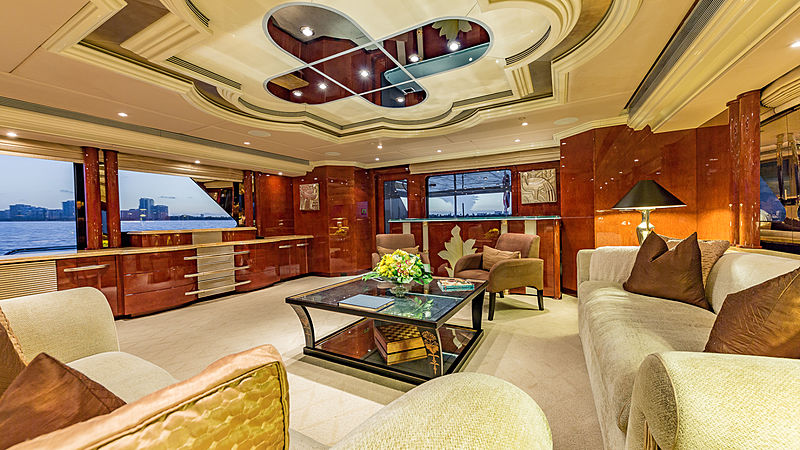 I Love This Boat yacht interior