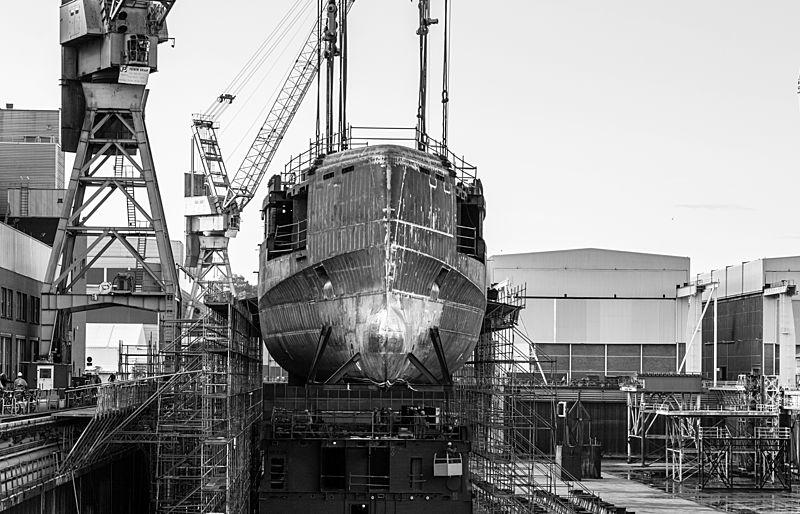Nobiskrug Project Black Shark in build in Rendsburg