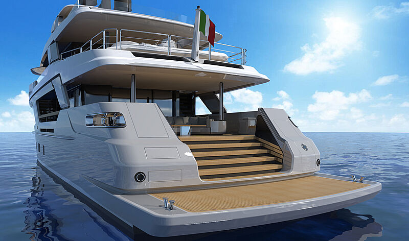 Cantiere delle Marche MG 115 yacht rendering