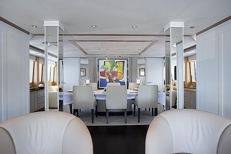 Deep Blue II yacht saloon