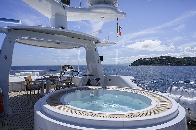 Deep Blue II yacht jacuzzi