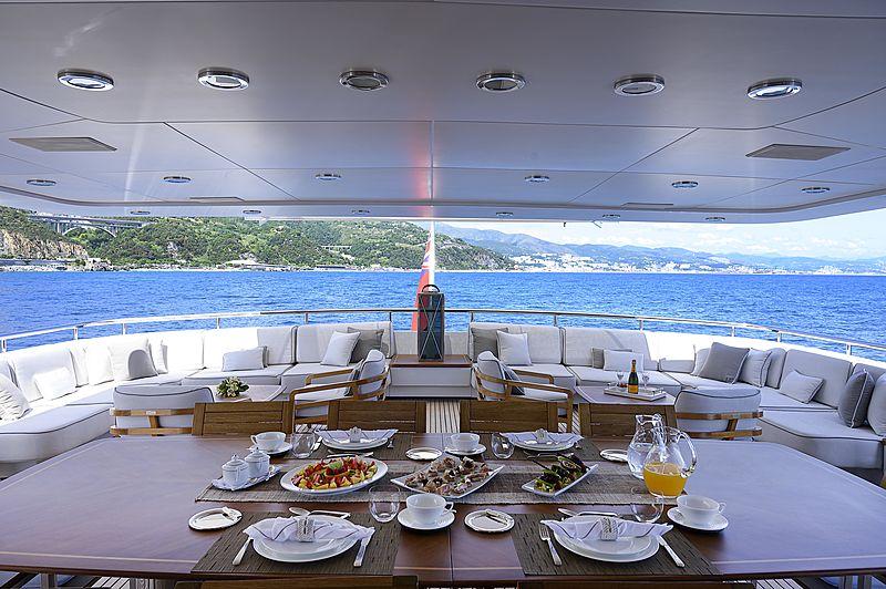 Deep Blue II yacht aft deck