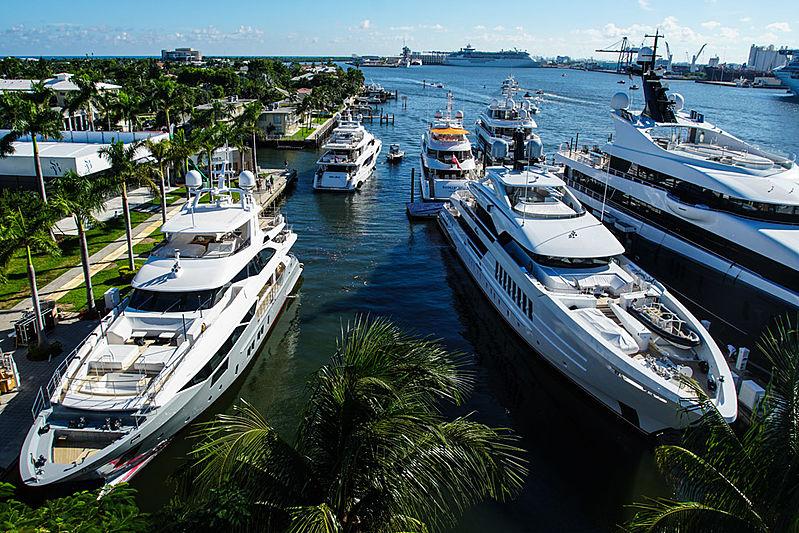Superyachts at FLIBS 2019