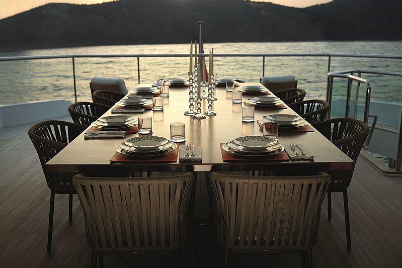 Solaris yacht aft deck
