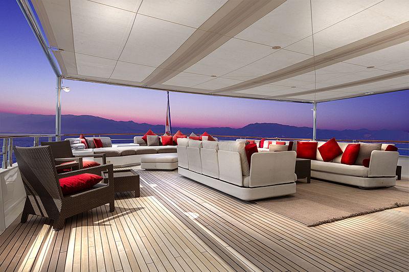 Adamas II yacht upper aft deck