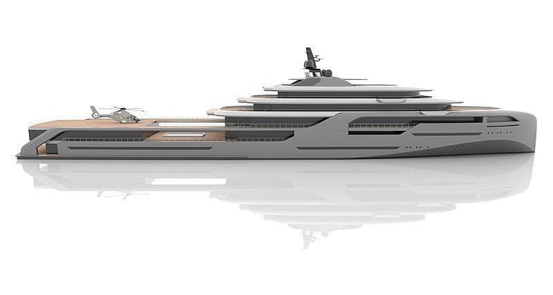 Aura yacht concept by Van Geest Desgn exterior