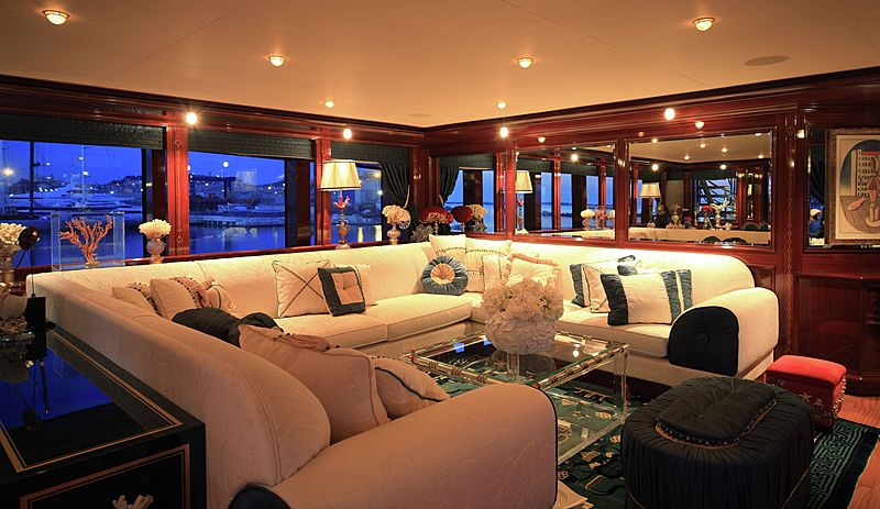 Blue Eyes London yacht saloon