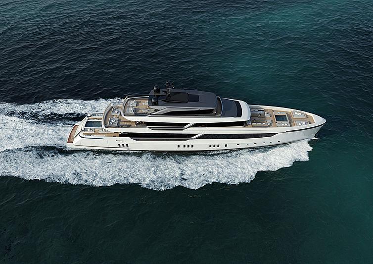 Sanlorenzo 56 Steel yacht rendering