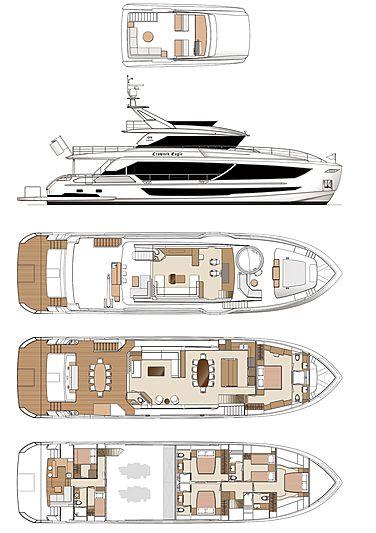Horizon FD92 Tri Deck yacht GA